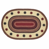 Carson Star Jute Rug Oval 48x72 - 25898 by VHC Brands