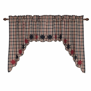 Carson Star Scalloped Swag Set of 2 36x36x16 - 25382 by VHC Brands