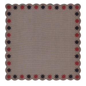Carson Star Scalloped Table Cloth 60x60 - 25386 by VHC Brands