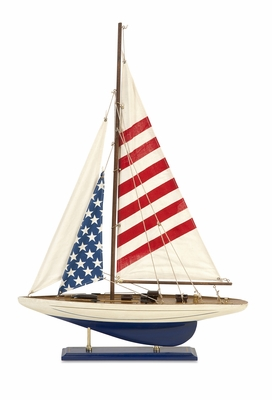 Carter American Flag Showpiece Sailboat by IMAX