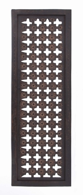 34090 Elegant Wall Sculpture - Wood Wall Panel - 34090 by Benzara