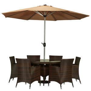 Caso 8-Piece All-weather wicker dining Set