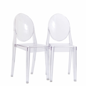 Casper Dining Chairs Set of 2 Clear