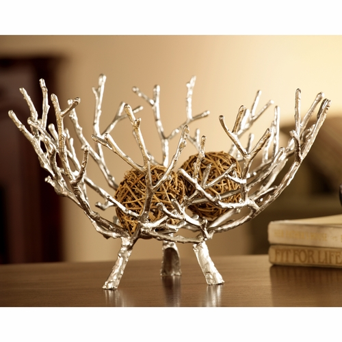 Spi home 50662 cast iron twig bowl decorative piece in for Home decoration pieces