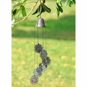 Cast Iron Wind Chime with Six Pieces of Mister Sun by SPI-HOME