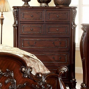 Castlewood Traditional Style Chest, Cherry Finish