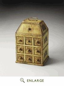 Celadon Solid Wood Jewelry Case 9.5'W by Butler Specialty