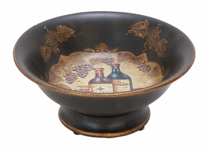 Ceramic Bowl For Stylish Servings Visitors Get Tuned To Its Artistic Beauty - 52354 by Benzara
