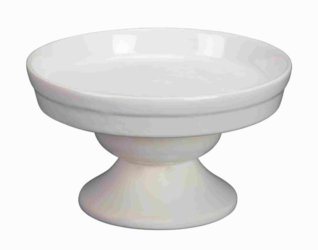 Buy Now Ceramic Cake Pedestal In White Finish With Modern ...