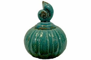 Ceramic Canister Nautilus of Shell Collection