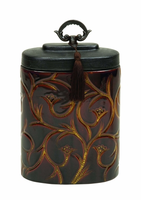 Ceramic Container With A Spill Proof Lid - 61734 by Benzara
