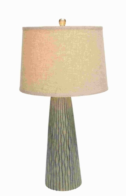 decorative Modern Table Lamp with Vertical Engravings - 97319 by Benzara