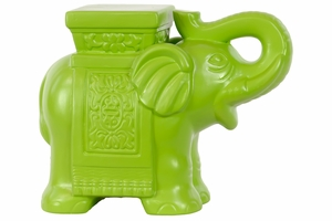 Ceramic Elephant in Green