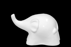 Ceramic Trumpeting Elephant Abstract