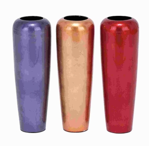 Ceramic Vase Assorted Stable Base with Smooth Finish (Set of 3)  - 48958 by Benzara