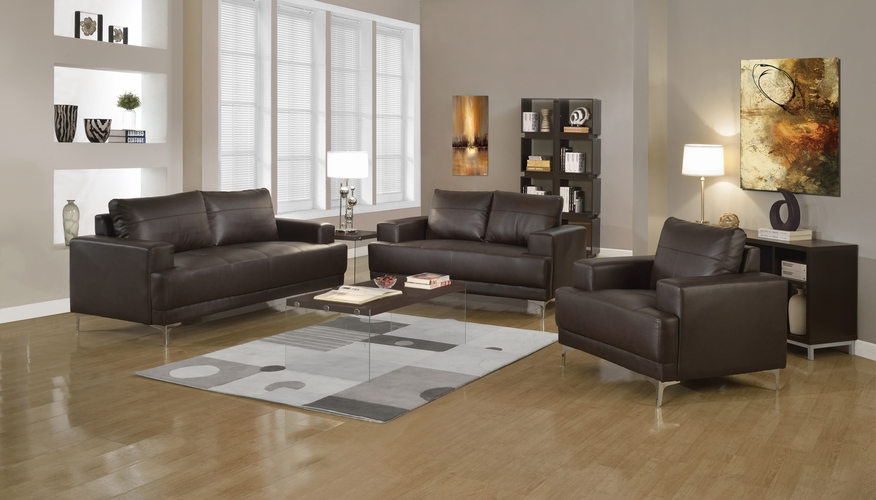 Buy chair brown bonded leather match at for Wild orchid furniture