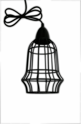 Charismatic Cage Drop Down Pendant Lamp by TAIB