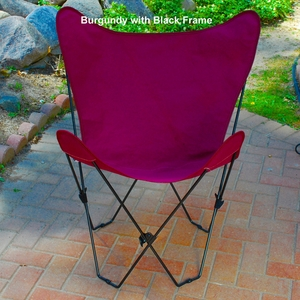Charming Butterfly Styled Steel Foldable Chair by Algoma