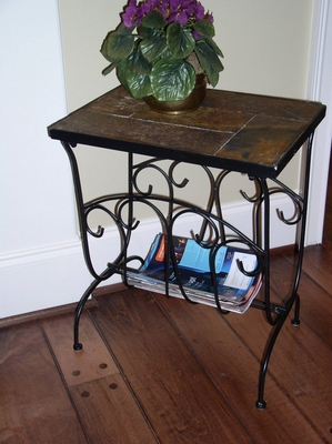 4D Concepts Charming Piece of Slate Magazine End Table