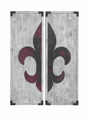 Fleur-de-Lis Themed Wall PlaqueDecor Set - 85970 by Benzara