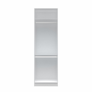 Chelsea 1.0 - 27.55 inch Wide Double Hanging Closet in White