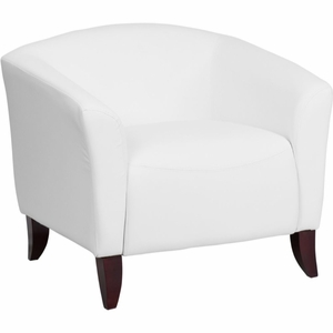 Cherry, White Reception Chair White - 111-1-WH-GG by Flash Furniture