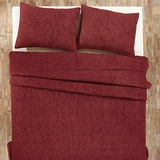 Cheyenne American Red Twin Quilt 86x68 - 25655 by VHC Brands