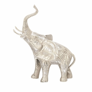 Chic Looking Aluminum Elephant - 37691 by Benzara