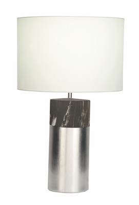 Chic Marble Grey Table Lamp - 60744 by Benzara