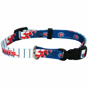 Chicago Cubs Dog Collar Medium