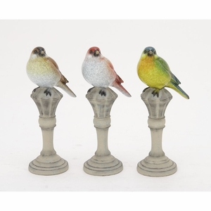 Chirpy PS Bird On Stand - 76792 by Benzara