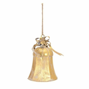 Christmas Large Gold Bell - Benzara