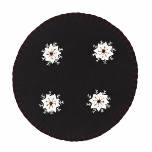 Christmas Snowflake Tablemat Felt Embroidered Set of 2-13