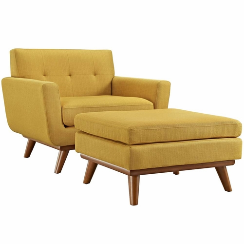 Buy citrus engage 2 piece armchair and ottoman at for Wild orchid furniture
