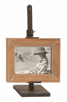 Metal Wood Photo Frame  Unique Home Accents - 55922 by Benzara