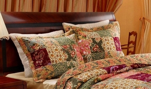 Greenland Home Fashions Claremont Collection Antique Chic Multi Color Standard Sham hio