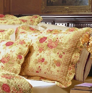 Greenland Home Fashions Claremont Collection Antique Rose Multi Color King Sham
