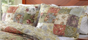 Greenland Home Fashions Claremont Collection Blooming Prairie Multi Color King Sham