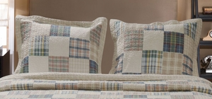 Greenland Home Fashions Claremont Collection Oxford Multi Color King Sham