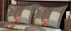 Greenland Home Fashions Claremont Collection Stella Multi Color King Sham
