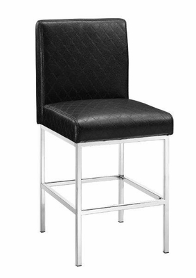 Clarey Black Quilted Diamond Counter Stool