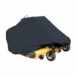 """Classic Accessories 73997 Zero Turn Riding Lawn Mower Cover, Black, Up to 50"""" Decks"""