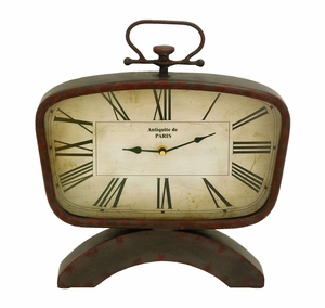 Classic And Modern Look Table Top Clock - 55942 by Benzara
