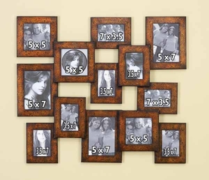 Metal WALL PHOTO FRAME A REMARKABLE GIFT - 99799 by Benzara