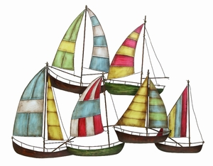 Metal Sailing Boat Decor A Perfect Nautical Decor - 13867 by Benzara