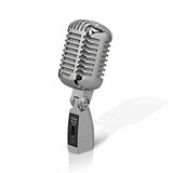 Classic Retro Dynamic Vocal Microphone Vintage Style Vocal Mic