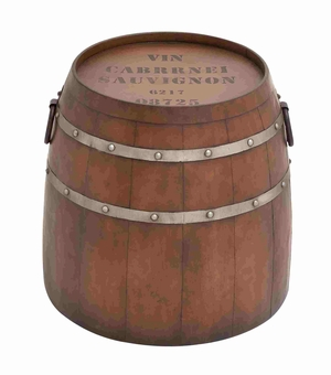 American Cowboy Themed Classy Metal Barrel Table - 93895 by Benzara
