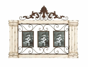 Classic Style Wooden Wall Photo Frame With Graceful Curve - 34867 by Benzara