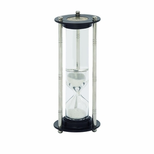 Classy Aluminum Glass Floating Sand Timer - 24513 by Benzara
