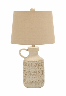 Classy and Vintage Appeal Ceramic Table Lamp - 78458 by Benzara